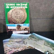 Libros de segunda mano: MUSEO NACIONAL DE ANTROPOLOGIA. MEXICO. CON 3 POSTALES DE LA ZONA ARQUEOLOGICA DE TEOTIHUCAN.. Lote 86913340