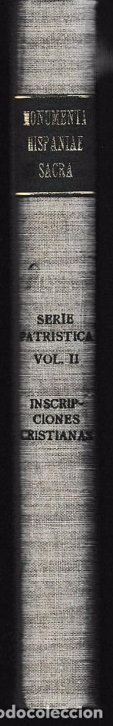 Libros de segunda mano: INSCRIPCIONES CRISTIANAS DE LA ESPAÑA ROMANA Y VISIGODA (JOSÉ VIVES 1969) SIN USAR - Foto 2 - 90758335