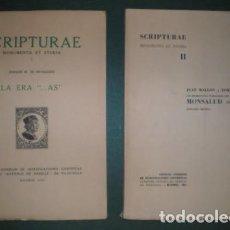 Libros de segunda mano: JOAQUÍN Mª DE NAVASCUÉS / JEAN MALLON Y TOMAS MARIN: SCRIPTURAE MONUMENTA ET STUDIA I Y II. 2 VOLS.. Lote 94634095