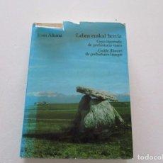 Libros de segunda mano: JESÚS ALTUNA. GUÍA ILUSTRADA DE PREHISTORIA VASCA. RMT82253. . Lote 95185483