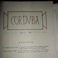 Libros de segunda mano: CORDVBA, 1980, NÚMERO 8, MUSEO ARQUEOLÓGICO DE CÓRDOBA. Lote 95950271