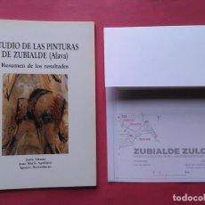 Libros de segunda mano: ESTUDIO DE LAS PINTURAS DE ZUBIALDE ALAVA JESUS ALTUNA JUAN MARIA APELLANIZ IGNACIO BARANDIARAN 1992. Lote 97635707