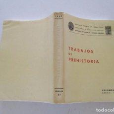 Libros de segunda mano: VV.AA. TRABAJOS DE PREHISTORIA. VOLUMEN 37 (NUEVA SERIE). MADRID, 1980. RMT83406. . Lote 99198483