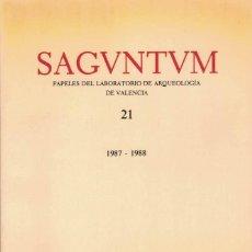 Libros de segunda mano: SAGUNTUM. PAPELES DEL LABORATORIO DE ARQUEOLOGIA DE VALENCIA.. Lote 102237371