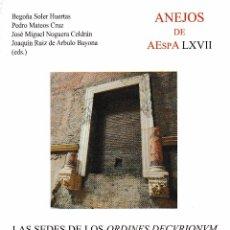 Libros de segunda mano: LAS SEDES DE LOS ORDINES DECURIONUM EN HISPANIA (CSIC 2013) SIN USAR. Lote 102429771