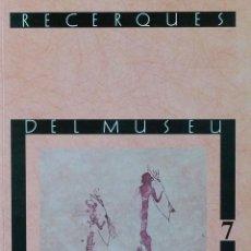 Libros de segunda mano: (PAÍS VALENCIÀ) (ALCOY) (ARQUEOLOGÍA) RECERQUES DEL MUSEU D'ALCOI, 7 - VARIOS AUTORES. Lote 105922295