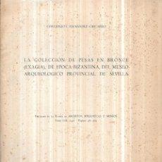Libros de segunda mano: LA COLECCION DE PESAS EN BRONCE (EXAGIA) DE EPOCA BIZANTINA DEL MUSEO ARQUEOLOGICO. 1947.. Lote 112319711