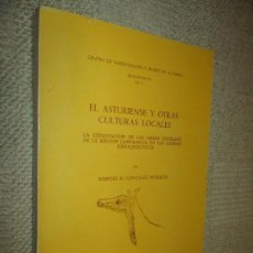 Libros de segunda mano: EL ASTURIENSE Y OTRAS CULTURAS LOCALES, MANUEL GONZÁLEZ MORALES,1982 PREHISTORIA. Lote 115710395