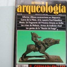 Libros de segunda mano: REVISTA DE ARQUEOLOGIA N 117 GERMAIN EN LAYE, CUEVA DE LA PILETA, ATAPUERCA. Lote 155162636