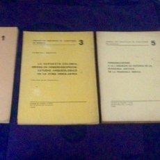 Libros de segunda mano: PAPELES DEL LABORATORIO DE ARQUEOLOGÍA DE VALENCIA. NºS 1, 3, 5, 6. UNIVERSITAT VALENCIA. 1960'S.. Lote 118677978