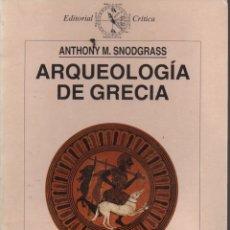 Libros de segunda mano: ARQUEOLOGÍA DE GRECIA. Lote 119356822