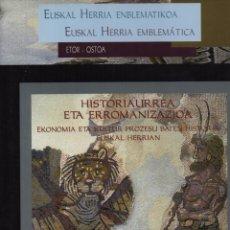 Libros de segunda mano: EUZKADI HISTORIAAURREA ETA ERROMANIZAZIOA-PREHISTORIA Y ROMANIZACIÓN. Lote 119860476