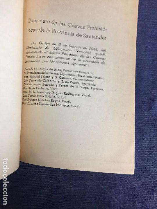 Libros de segunda mano: LA CUEVA DE ALTAMIRA Y OTRAS CUEVAS PINTURAS PROVINCIA DE SANTANDER J CARBALLO 1944 19X12,5CMS - Foto 2 - 120253451