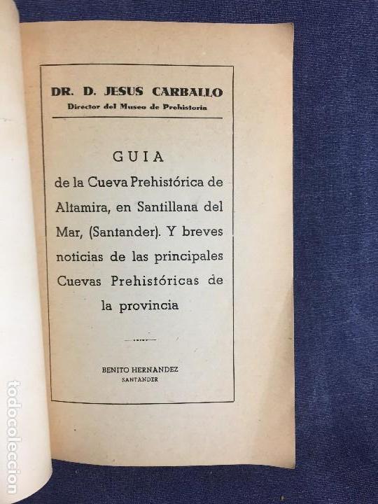Libros de segunda mano: LA CUEVA DE ALTAMIRA Y OTRAS CUEVAS PINTURAS PROVINCIA DE SANTANDER J CARBALLO 1944 19X12,5CMS - Foto 5 - 120253451