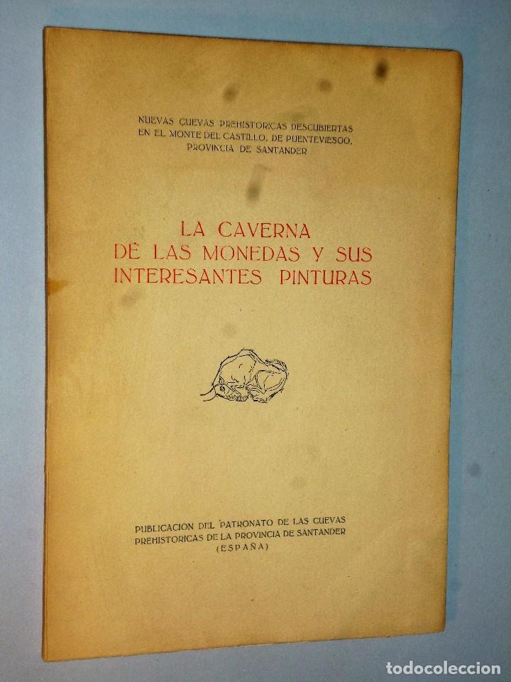 LA CAVERNA DE LAS MONEDAS Y SUS PINTURAS. (Libros de Segunda Mano - Ciencias, Manuales y Oficios - Arqueología)