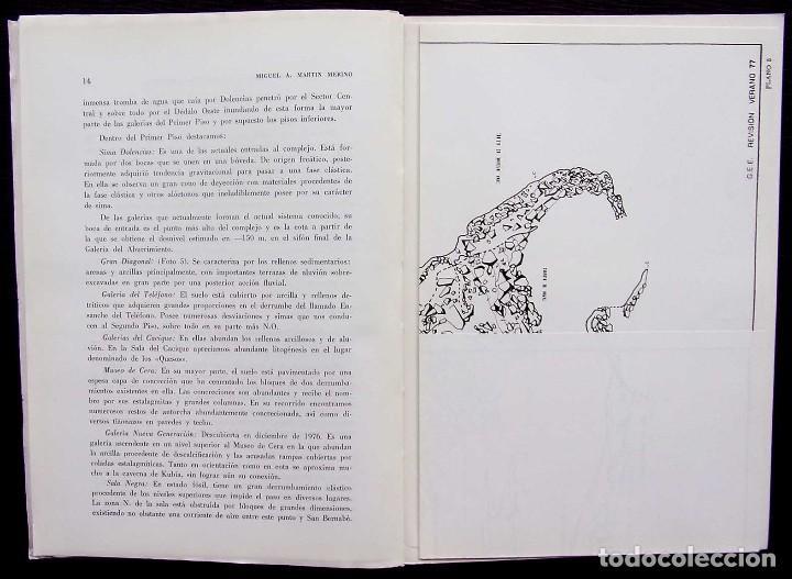 Libros de segunda mano: KAITE. BURGOS. Nº 1. AÑO: 1978. ESTUDIOS DE ESPELEOLOGÍA BURGALESA. ATAPUERCA. OJO GUAREÑA. - Foto 7 - 173631222