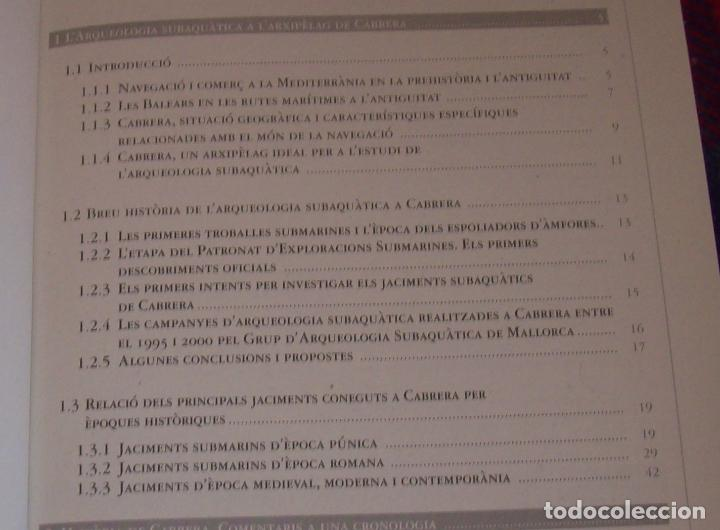 Libros de segunda mano: HISTÒRIA I ARQUEOLOGIA DE CABRERA / HISTORIA Y ARQUEOLOGÍA DE CABRERA. AJUNTAMENT DE PALMA.2001 - Foto 5 - 123283951