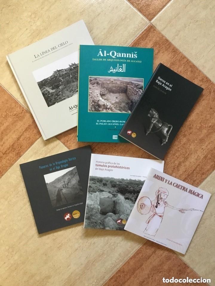 LOTE DE 6 LIBROS SOBRE ARQUEOLOGÍA EN EL BAJO ARAGÓN - NUEVO, SIN USAR (Libros de Segunda Mano - Ciencias, Manuales y Oficios - Arqueología)