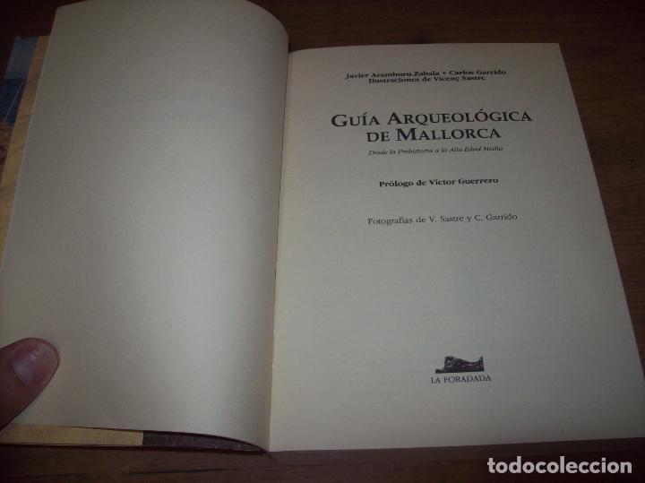 Libros de segunda mano: GUÍA ARQUEOLÓGICA DE MALLORCA. JAVIER ARAMBURU - CARLOS GARRIDO - VICENÇ SASTRE. 1994. - Foto 4 - 130289970