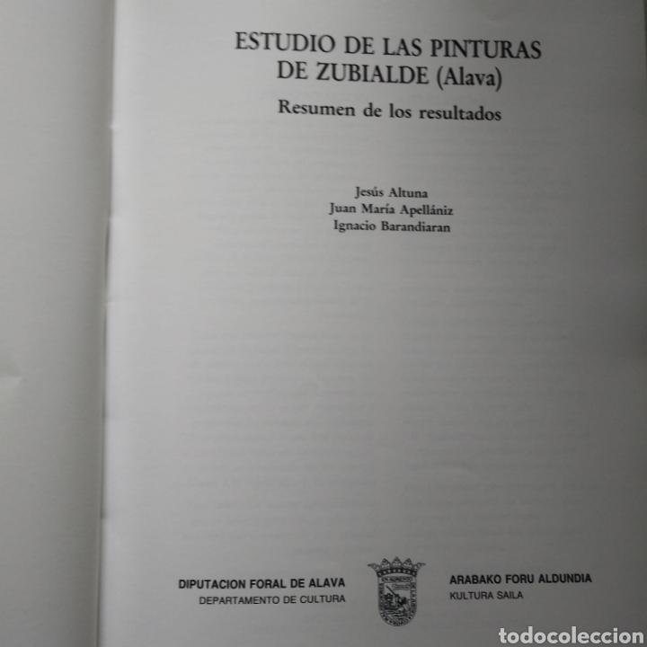 Libros de segunda mano: ESTUDIOS DE LAS PINTURAS DE ZUBIALDE (ALAVA). JESUS ALTUNA. JUAN M. APELLANIZ. IGNACIO BARANDIARAN. - Foto 3 - 134177143