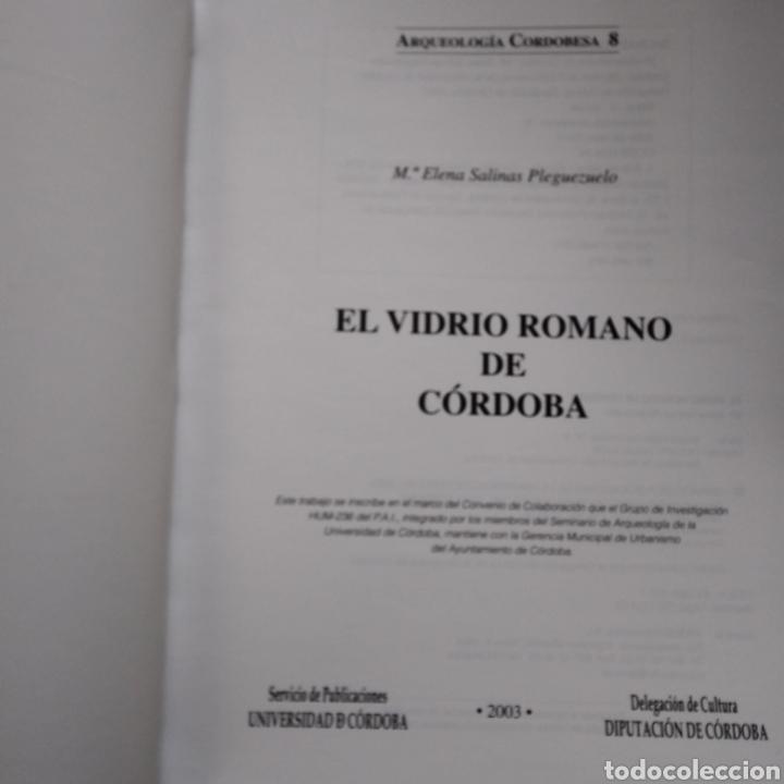 Libros de segunda mano: EL VIDRIO ROMANO DE CORDOBA. M. ELENA SALINAS PLEGUEZUELO. UNIVERSIDAD DE CORDOBA. 2003. - Foto 2 - 134182177