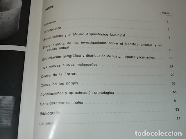 Libros de segunda mano: LAS CUEVAS DE LOS BOTIJOS Y DE LA ZORRERA EN BENALMÁDENA. CARMEN OLARIA . 1978. VER FOTOS. - Foto 14 - 134348370