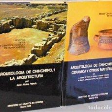 Libros de segunda mano: ARQUEOLOGÍA DE CHINCHERO. 1.- LA ARQUITECTURA . / 2.- CERÁMICA Y OTROS MATERIALES ( 2 TOMOS). Lote 136165602