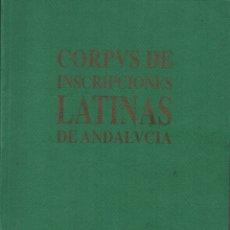 Libros de segunda mano: CORPVS DE INSCRIPCIONES LATINAS DE ANDALUCÍA SEVILLA (LA CAMPIÑA). Lote 136165830
