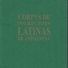 Libros de segunda mano: CORPVS DE INSCRIPCIONES LATINAS DE ANDALUCÍA SEVILLA (LA VEGA I),. Lote 136166053