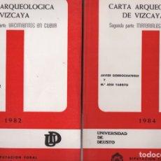 Libros de segunda mano: CARTA ARQUEOLÓGICA DE VIZCAYA I Y II. Lote 136171982