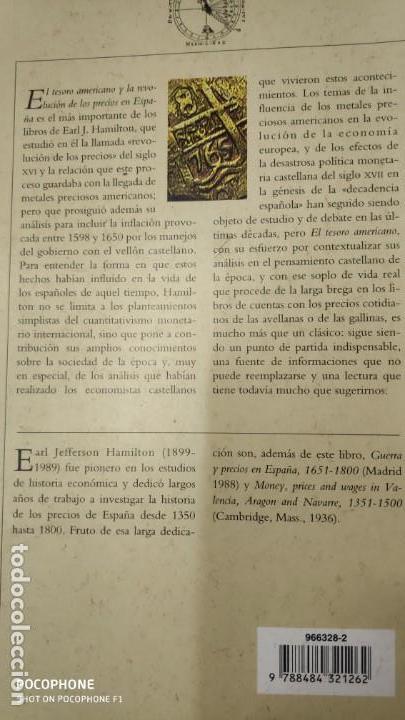 Libros de segunda mano: EL TESORO AMERICANO Y LA REVOLUCION DE LOS PRECIOS EN ESPAÑA 1501-1650 - Foto 2 - 143377230