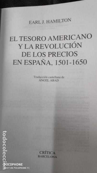 Libros de segunda mano: EL TESORO AMERICANO Y LA REVOLUCION DE LOS PRECIOS EN ESPAÑA 1501-1650 - Foto 4 - 143377230