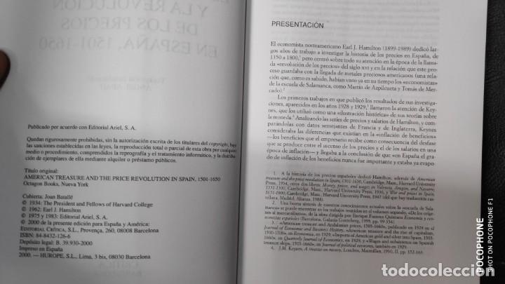 Libros de segunda mano: EL TESORO AMERICANO Y LA REVOLUCION DE LOS PRECIOS EN ESPAÑA 1501-1650 - Foto 5 - 143377230