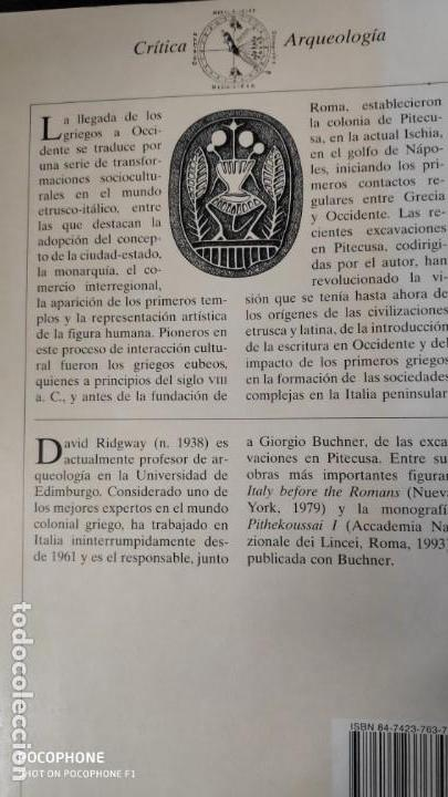 Libros de segunda mano: EL ALBA DE LA MAGNA GRECIA ( PITECUSA Y LAS PRIMERAS COLONIAS GRIEGAS DE OCCIDENTE ) - Foto 2 - 143731818