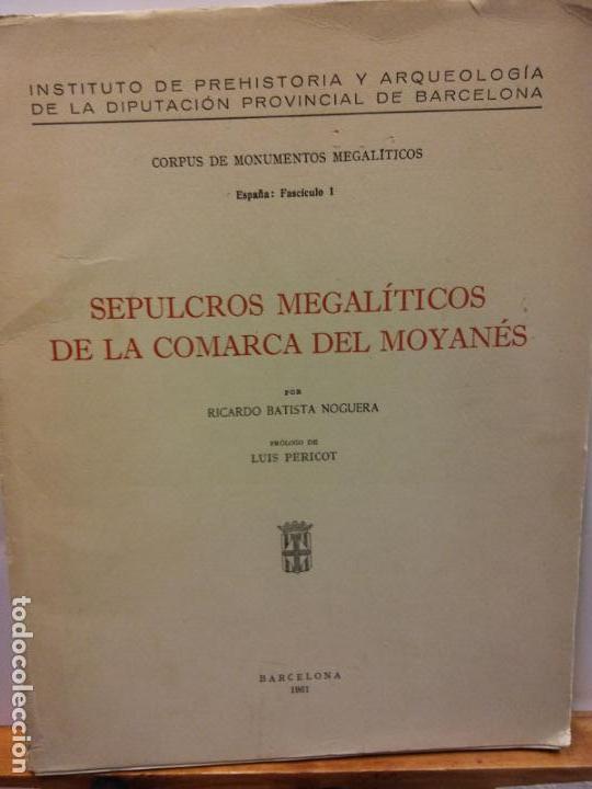 STQ.SEPULCROS MEGALITICOS DE LA COMARCA DEL MOYANES..BRUMART TU LIBRERIA. (Libros de Segunda Mano - Ciencias, Manuales y Oficios - Arqueología)