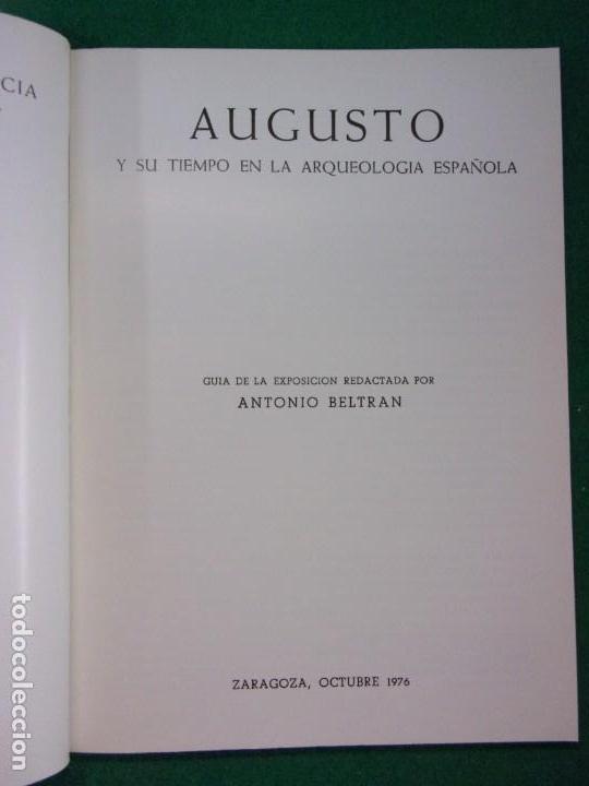 Libros de segunda mano: AUGUSTO Y SU TIEMPO EN LA ARQUEOLOGÍA ESPAÑOLA / 1976 - Foto 2 - 147766278