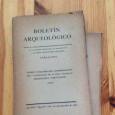Libros de segunda mano: BOLETIN ARQUEOLOGICO TARRAGONA 1944 1945 1A Y 2A PARTE ARQUEOLOGIA. Lote 150356346