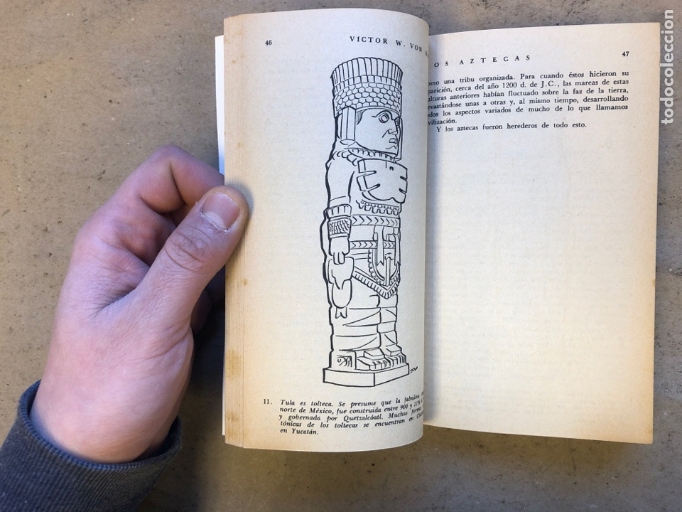 Libros de segunda mano: LOS AZTECAS (HOMBRE Y TRIBU). VICTOR W. VON HAGEN. EDITORIAL DIANA 1966. - Foto 4 - 151476600
