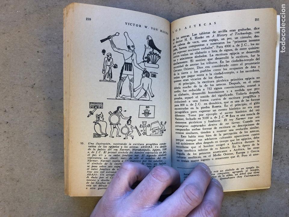 Libros de segunda mano: LOS AZTECAS (HOMBRE Y TRIBU). VICTOR W. VON HAGEN. EDITORIAL DIANA 1966. - Foto 7 - 151476600