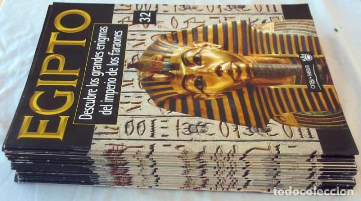 LOTE DE 32 FASCÍCULOS - EGIPTO / DESCUBRE LOS GRANDES ENIGMAS DEL IMPERIO DE LOS FARAONES - VER (Libros de Segunda Mano - Ciencias, Manuales y Oficios - Arqueología)