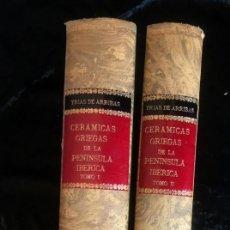 Libros de segunda mano: CERAMICAS GRIEGAS DE LA PENINSULA IBERICA - 2 TOMOS - COMPLETA - GLORIA TRIAS DE ARRIBAS. Lote 157917282