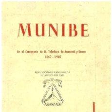 Libros de segunda mano: MUNIBE. AÑO 1960. ARQUEOLOGIA. GEOLOGIA. ESPELEOLOGIA. DOLMENES. PAIS VASCO.. Lote 158322390