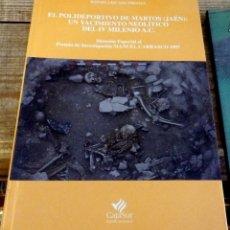 Libros de segunda mano: LIZCANO PRESTEN, RAFAEL. EL POLIDEPORTIVO DE MARTOS (JAÉN): UN YACIMIENTO NEOLÍTICO DEL IV MILENIO. Lote 160950046