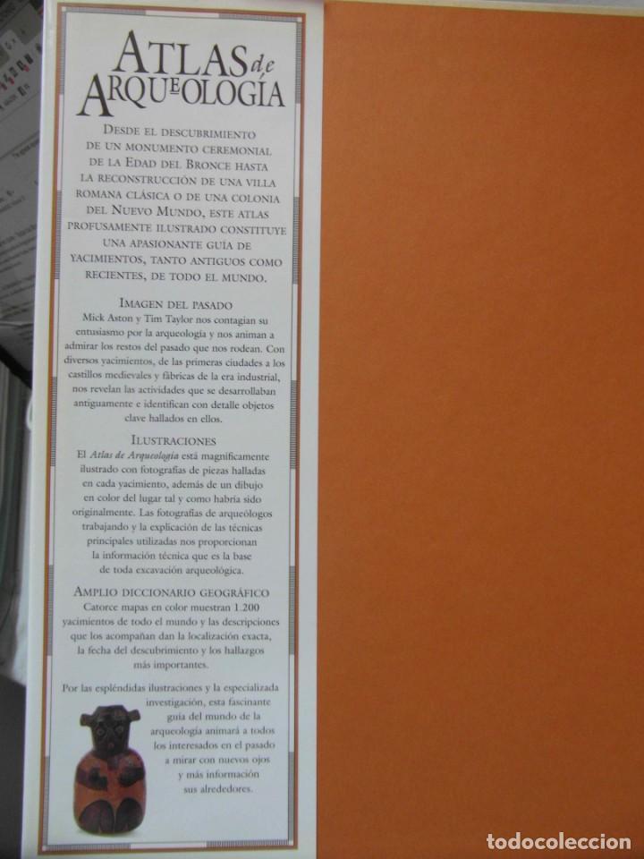 Libros de segunda mano: ATLAS DE ARQUEOLOGIA. MICK ASTON Y TIM TAYLOR. DEBIBL - Foto 2 - 162852154