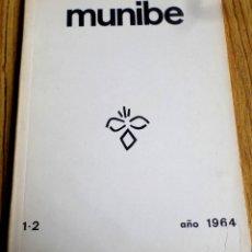 Libros de segunda mano: MUNIBE 1964 - 1-2 / ARQUEOLOGÍA / ARANZADI CIENCIAS NATURALES CON ABUNDANTES ILUSTRACIONES A B/N. Lote 167080480