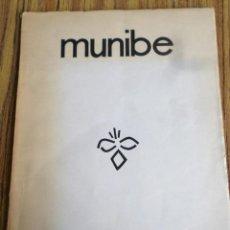 Libros de segunda mano: MUNIBE 1963 - 1-2 / ARQUEOLOGÍA / ARANZADI CIENCIAS NATURALES / ILUSTRACIONES Y MAPA. Lote 167080560