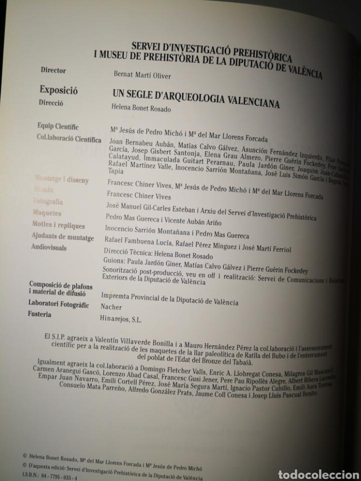 Libros de segunda mano: Un segle de arqueología Valenciana Diputació de Valencia prehistoria - Foto 4 - 168538516