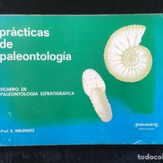 Libros de segunda mano: PRACTICAS DE PALEONTOLOGIA - FICHERO DE PALEONTOLOGIA ESTRATIGRAFICA - MELENDEZ. Lote 212916832