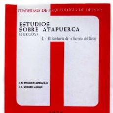 Libros de segunda mano: ESTUDIOS SOBRE ATAPUERCA. BURGOS. I. AÑO: 1976. EL SANTUARIO DE LA GALERÍA DEL SILEX.. Lote 173526074
