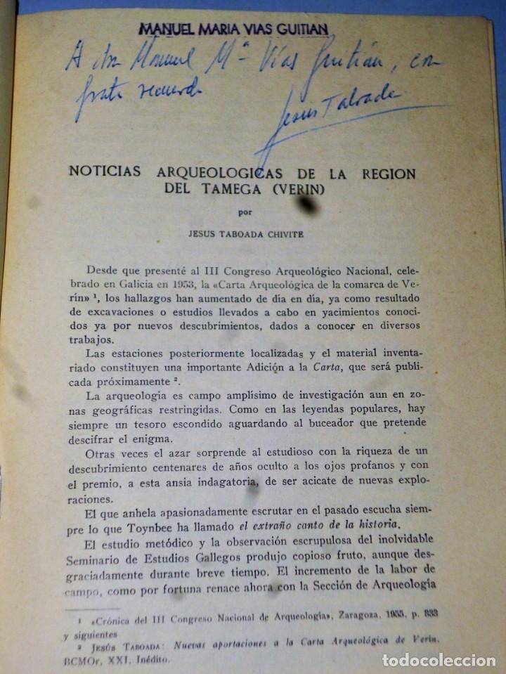 Libros de segunda mano: NOTICIAS ARQUEOLÓGICAS DE LA REGIÓN DE TAMEGA (VERÍN) - Foto 2 - 174535507